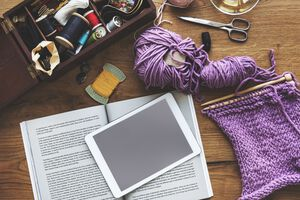 Leisure Activity Knitting Recreaional Pursuit Concept